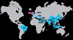 Global map Partners Pingu's English